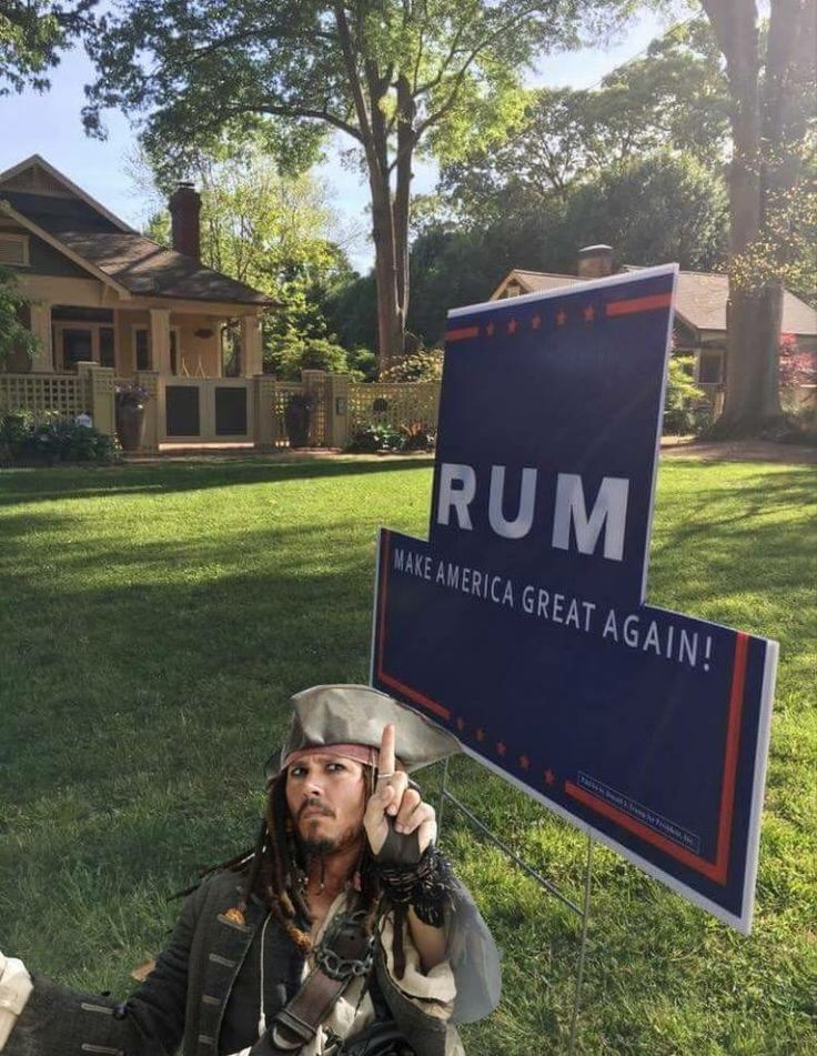 Vote Jack Sparrow 2016---My Mom can't even answer whether she'd rather have Trump or Jack Sparrow for president.