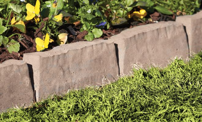 11 best images about moms yard on pinterest river rock for Edging flower beds with edger