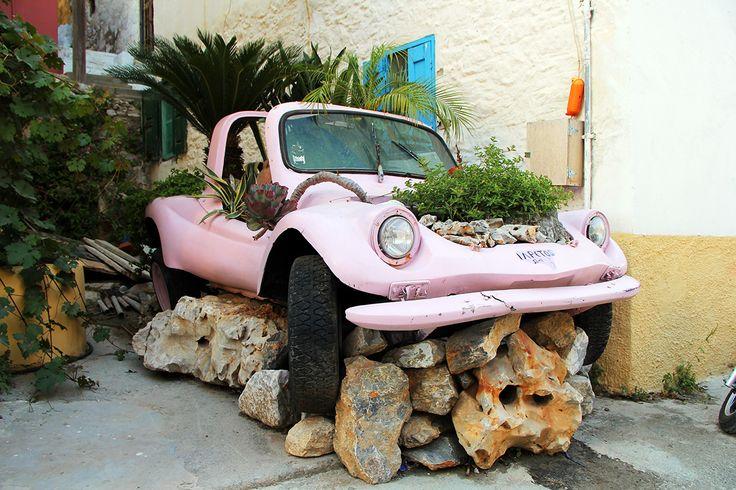 Simi,  car flowerbed
