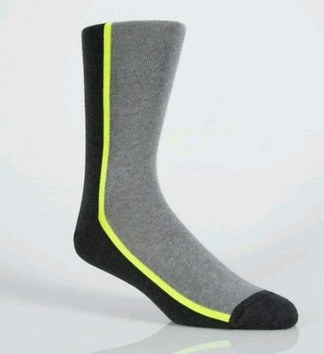 Paul Smith Men's Grey Vertical Block Stripe Socks RRP £22 RARE NEW COLLECTION