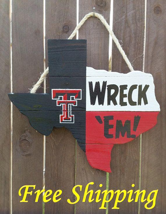 Rustic Wooden Texas Tech University Texas by OldSchoolDesign