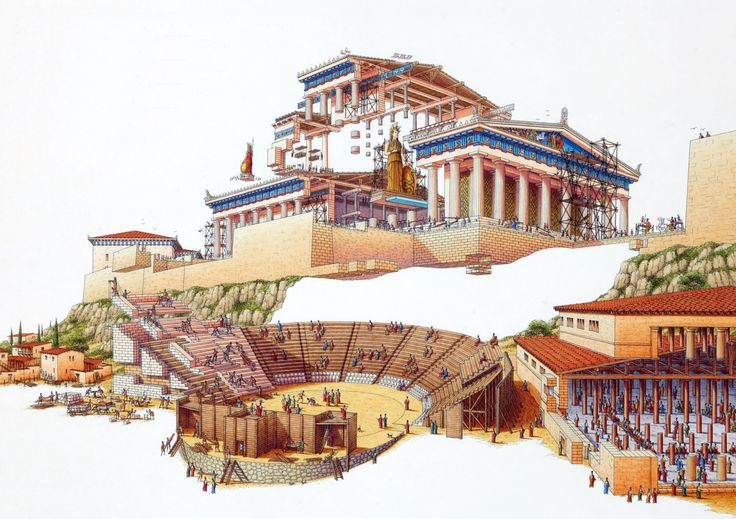Stephen Biesty - Illustrator - Exploded Views - Acropolis