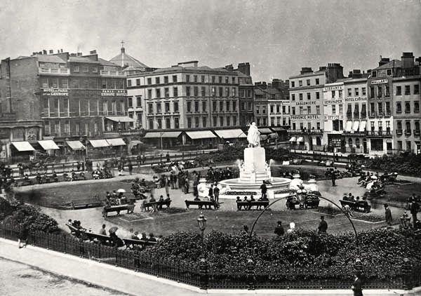 Leicester Square - London, United Kingdom, 1880