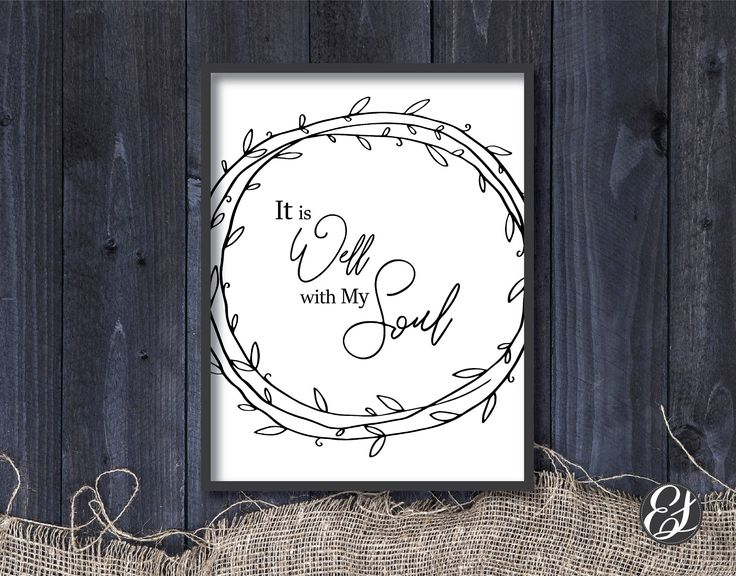 """PRINTABLE """"It is Well"""" Wall Hanging   Wall Poster   Home Decor   Dinning Decor   Kitchen Decor   Print-Ready by ElgraphicsCanada on Etsy"""