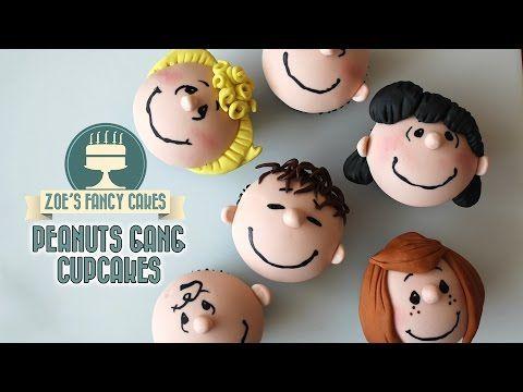 Peanuts movie cupcakes peanuts gang cupcake tutorial - YouTube