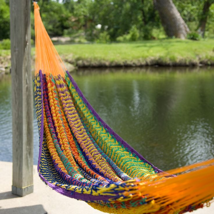 Have to have it. XXL Hand Woven Multicolored Thick String Hammock $89.98: Xxl Hands, Front Doors Colors, Thick String, Rainbows Colors, String Hammocks, Hands Woven, Woven Multicolored, Multicolored Thick, Yard Work