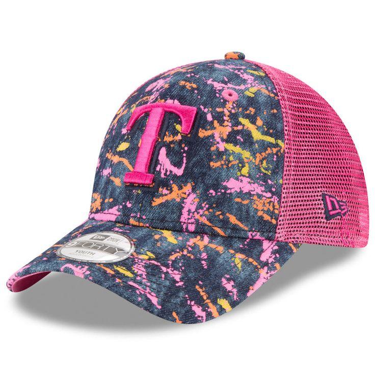 Texas Rangers New Era Youth Splat Adjustable Hat - Denim