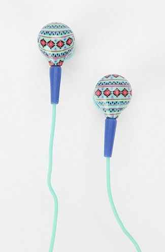 These tribal print earphones are SUPER cute and will keep you rockin' all summer long