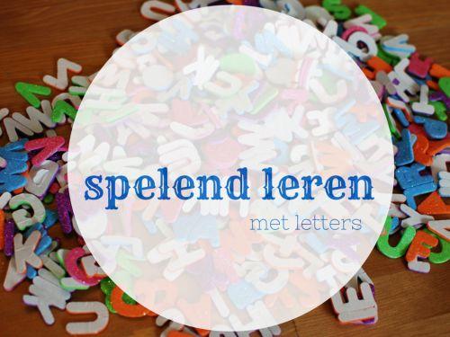 25 tips om spelend te leren met letterstickers