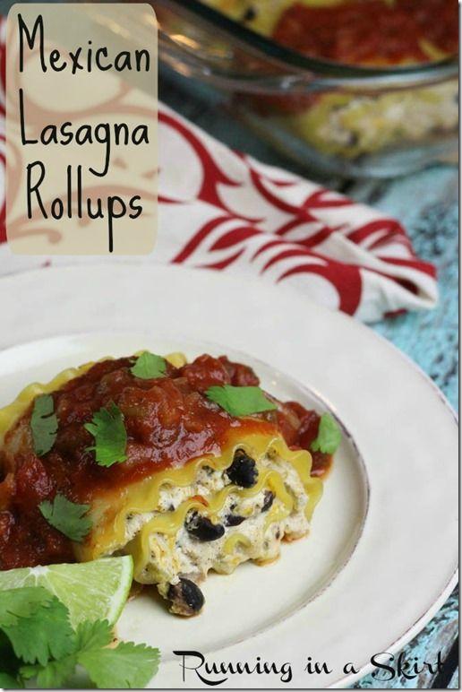 Mexican Lasagna Rollups recipe are a fun twist on classic lasagna ...