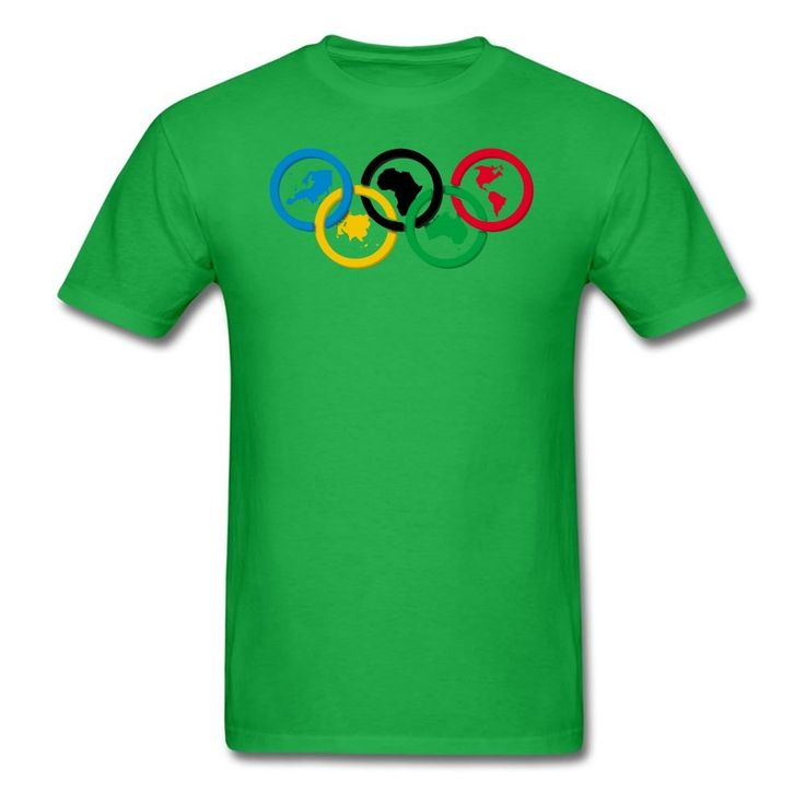 MOYI Men's World's Famous Olympic Games Rings Shirt Green Xxxx-large. 100% Cotton. Simple And Easy, High Quality. Well Image And Exllent Printed Technology. A Series2016 RIo Olympic Games Logo Products. Great Shirt And High Print Quality.