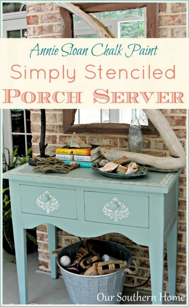 Love this pretty beach-inspired table makeover by Our Southern Home!