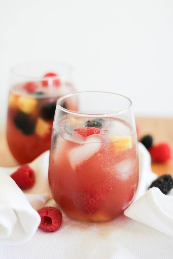 Pineapple Rosé Sangria - perfect for the 4th of July!    http://www.theroastedroot.net