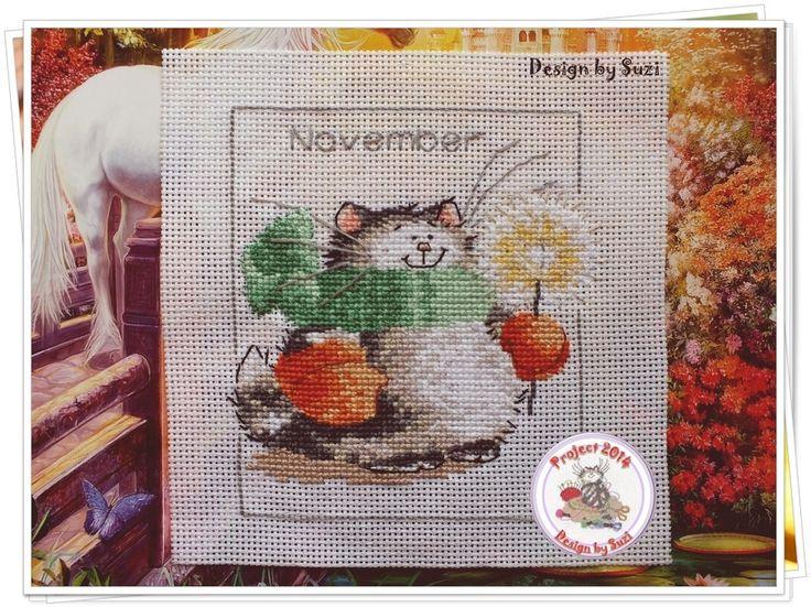Project 2014: 34/40 November (Margaret Sherry-Calendar Cats)
