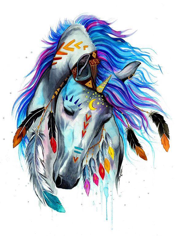 Camiseta unisex-unicornio espíritu plumas estrellas-ropa