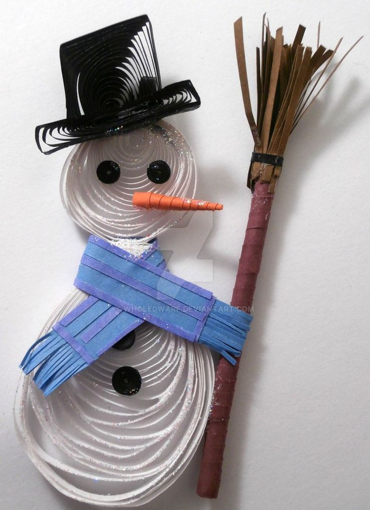Paper Quilling Snowman - Christmas ornament by wholedwarf on DeviantArt