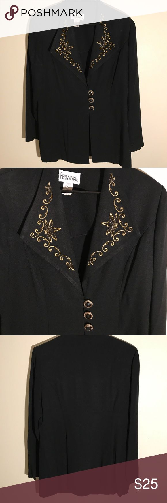 Beautiful Designer Blazer EXCELLENT CONDITION NO FLAWS! Details, measurements and modeling photos coming Monday . If you're interested and need to know, please message me. YOU CAN CHOOSE TO PURCHASE ONLY 1 ITEM, BUT YOU CAN ONLY PURCHASE UP TO 3 ITEMS PER ORDER. OR YOUR ORDER WILL BE CANCELLED. Periwinkle Jackets & Coats Blazers