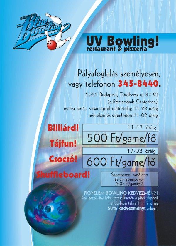Üdvözli a Blue Bowling Club & Pizzéria!