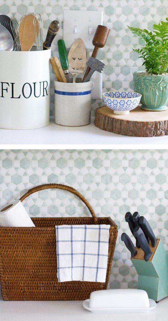 140 best kitchen styling images on pinterest for Cottage style kitchen backsplash ideas