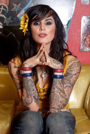 """Photo collection of celebrity Kat Von D, one of the hottest women in Hollywood. Kat started her TV career in 2005 as a star of """"Miami Ink."""" She went on to star in LA Ink at her own tattoo shop, High Voltage. She's since been through a handful of celebrity relationships and was mar..."""