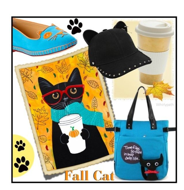 Fall Cat! by whirlypath on Polyvore featuring Charlotte Olympia and Karl Lagerfeld