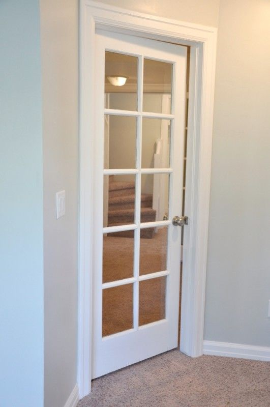 Love this glass interior door! Great for the computer room, so you can see what the kids are doing!