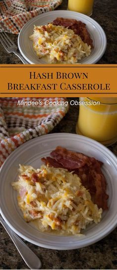 If you're looking for a hearty breakfast of hash browns, eggs, cheese and bacon, then this hash brown breakfast casserole is just what you're looking for! via @https://www.pinterest.com/mindeescooking/