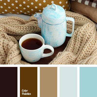 An outstanding palette made of natural shades combination - Blue beige brown color scheme ...