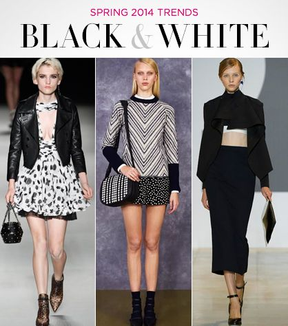 Spring 2014 Trends: Black & White