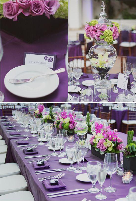 Purple Wedding tableslot