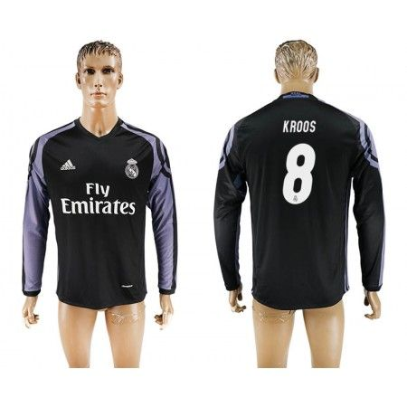 Real Madrid 16-17 Toni #Kroos 8 3 trøje Lange ærmer,245,14KR,shirtshopservice@gmail.com