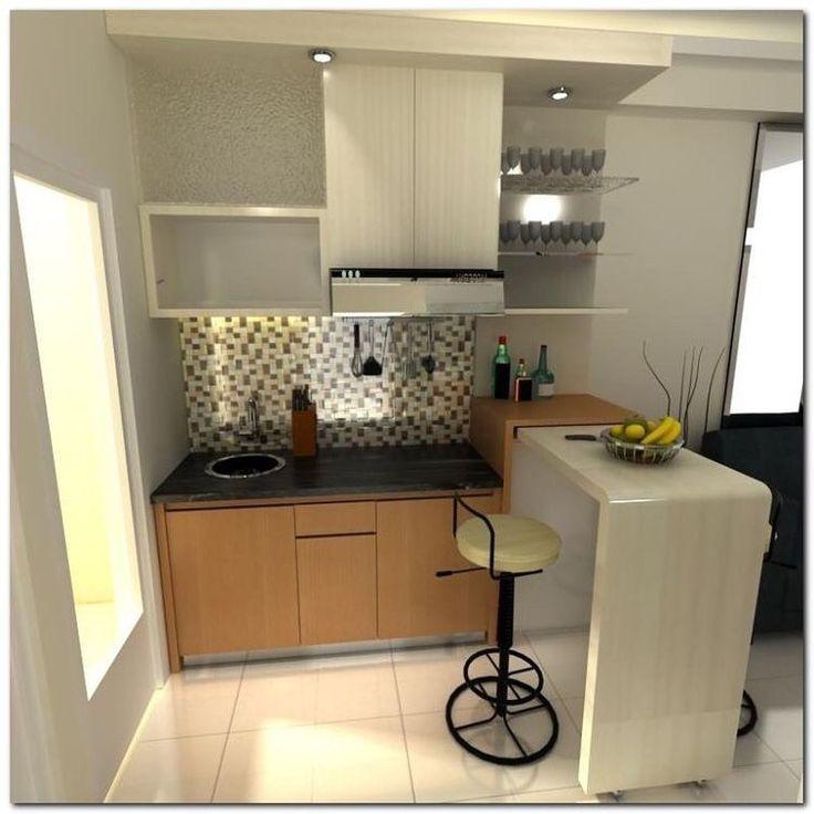 inspirasi kitchen set small spaces dan mini bar slidding