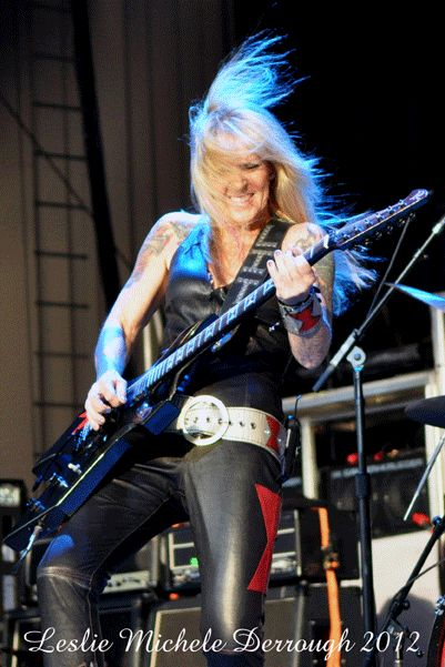Lita Ford at the Cynthia Woods Mitchell Pavilion in Houston. 2012