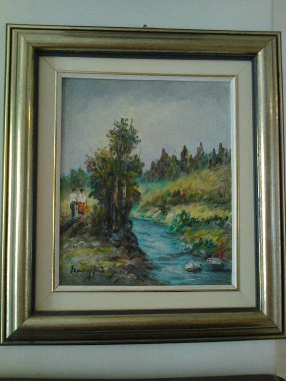 Oil on camvas real painting couple on by Vintageandelegant on Etsy, €270.00 a special gift for lovers