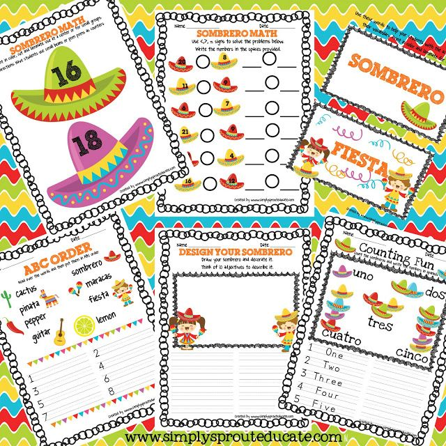 Get Festive with Cinco De Mayo activities for your classroom educational ideas and more ~ Simply Sprout