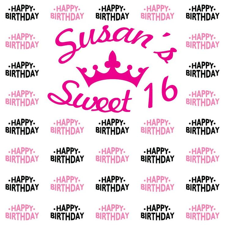 40 best Sweet 16 Step and Repeat Templates images on Pinterest - birthday itinerary template