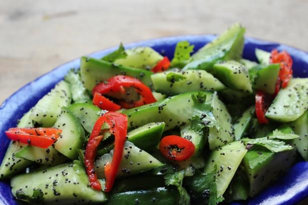 Salade de concombre et pavot