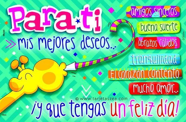 Tarjeta de cumpleaños, buenos deseos-Jirafa Vera soplando un espanta suegras © ZEA www.tarjetaszea.com