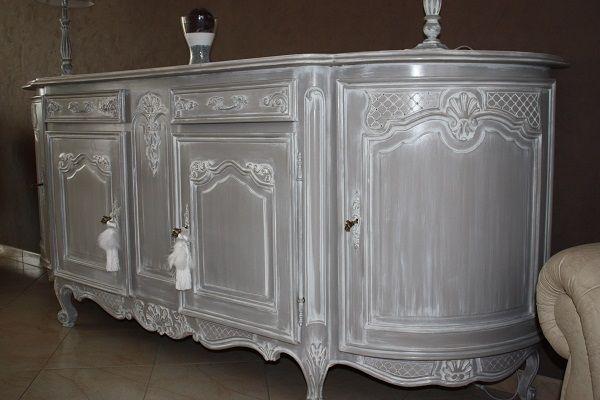 buffet louis xv revisit en style gustavien decor ideas. Black Bedroom Furniture Sets. Home Design Ideas