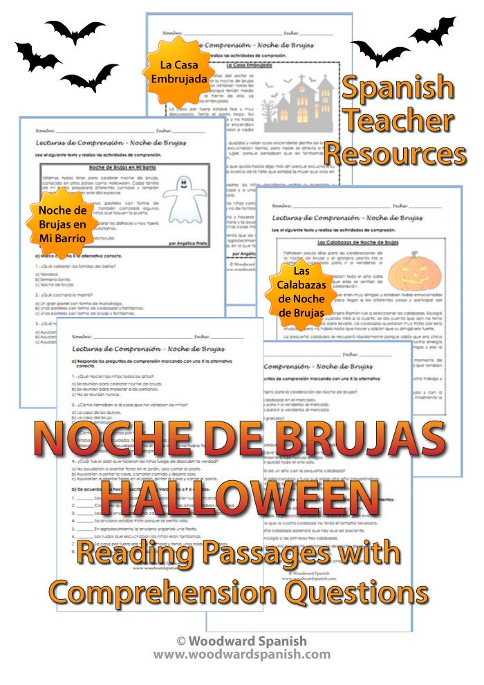 spanish teacher resource 3 original stories about halloween in spanish with reading comprehension questions - Strange Halloween Facts