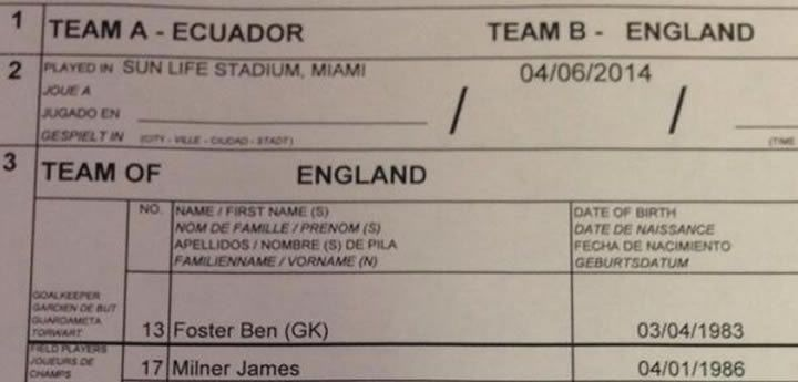 World Cup: England's passport numbers accidentally published on team sheet in Miami http://descrier.co.uk/news/uk/england-football-teams-passport-numbers-accidentally-published-team-sheet/