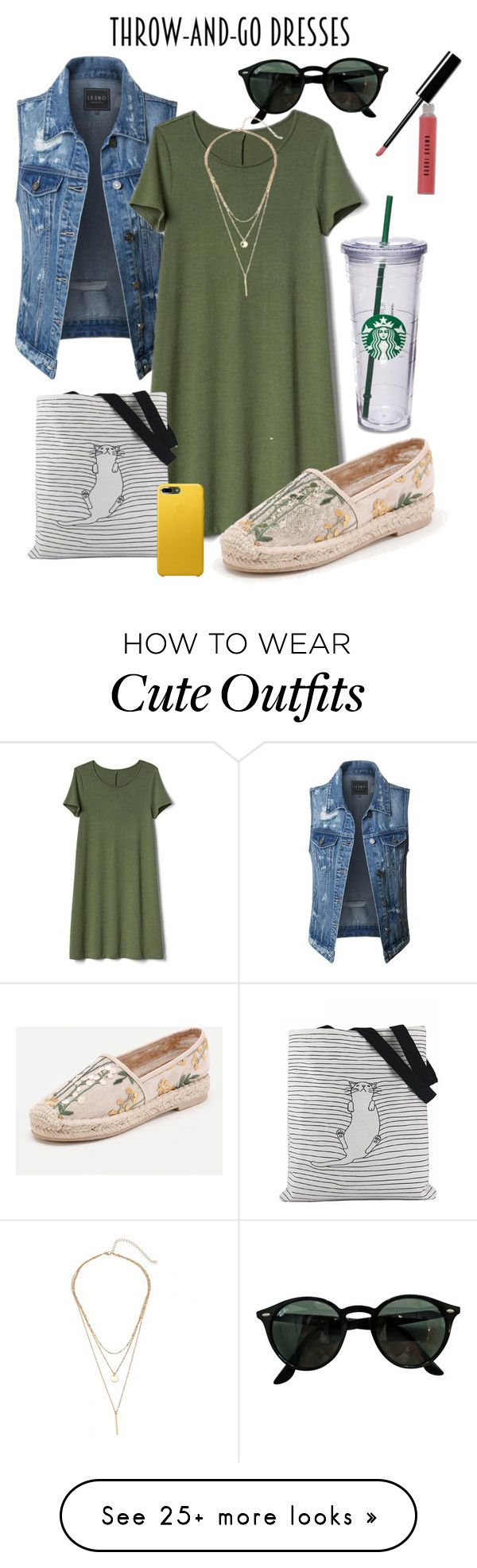 """Green is the new black"" by lcbrown21 on Polyvore featuring LE3NO, Gap, Ray-Ban and Bobbi Brown Cosmetics"