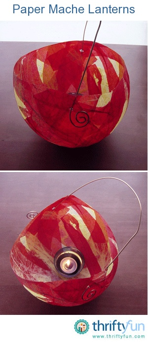 These are easy and beautiful paper mache balloon lanterns.  They work great as party decorations, house decorations, and out door lanterns for the summer time.