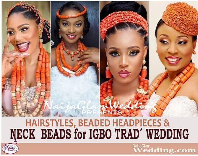 Latest Igbo Trad Wedding Hairstyles W Coral Bead Accessories Naijaglamwedding Igbo Bride Igbo Traditional Wedding Bride Hairstyles