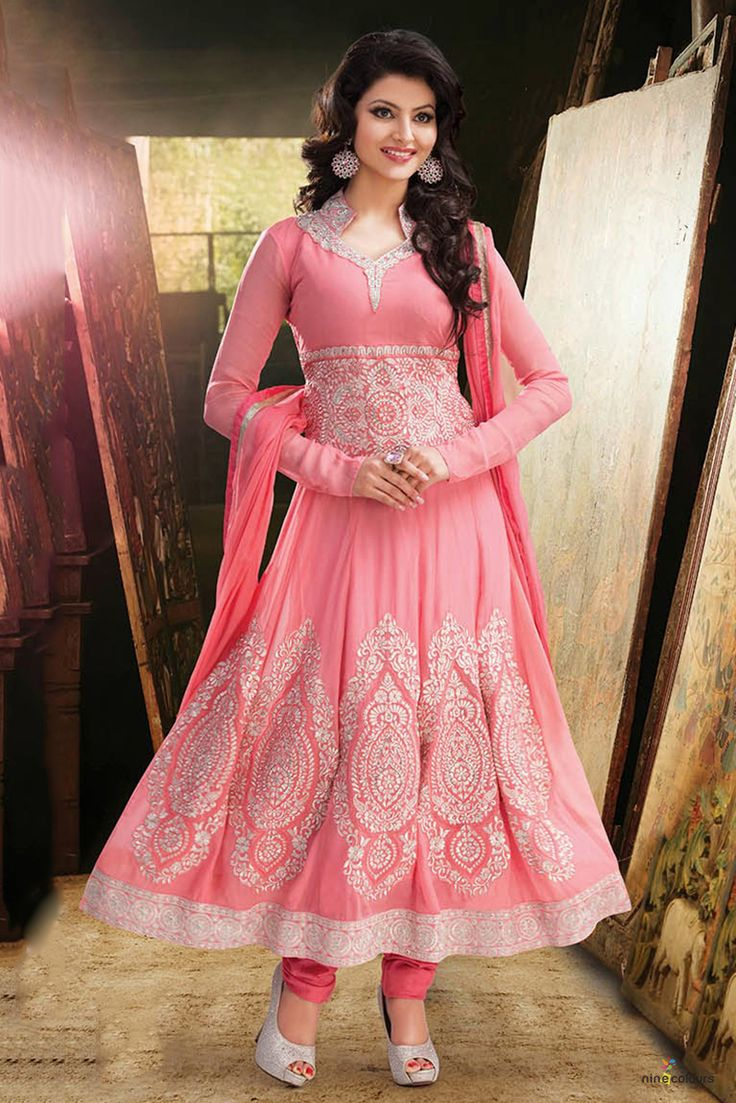 baby pink anarkali - Google Search