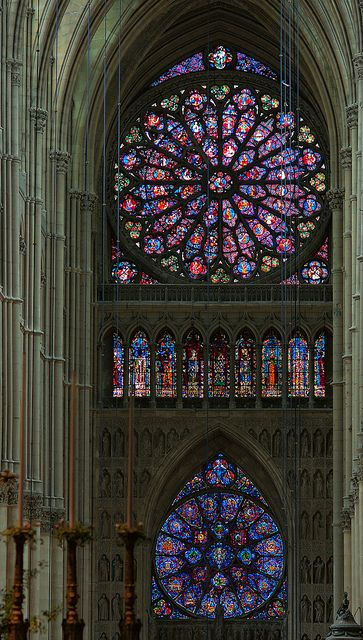 Roses, Nave of Reims Cathedral, Paris