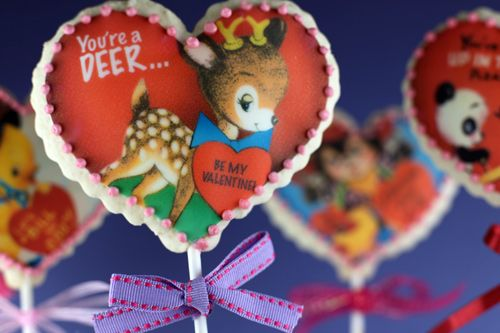 Cookies for St. Valentine's day  NB. Kwikscan printer with edible inks