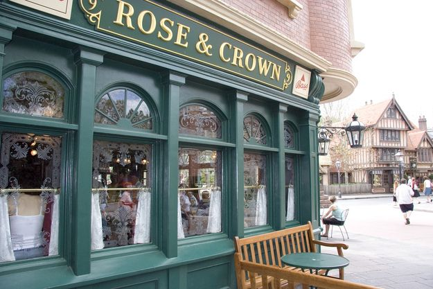 Things You Probably Never Knew About Disney Parks  25. In the United Kingdom pavilion, the Rose and Crown got its name from the two most common words found in pub names in the United Kingdom....