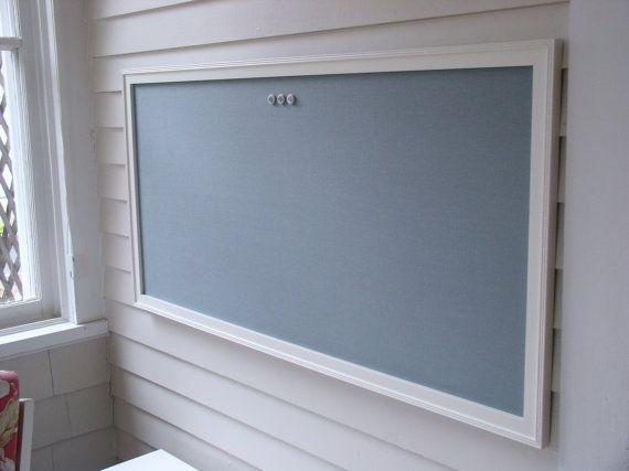 Huge Slate Blue Fabric Magnetic Bulletin Board Magnet