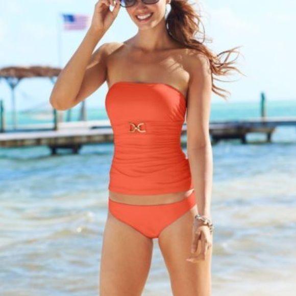Michael Kors coral orange tankini swimsuit Brand new with tags! Michael Kors Swim